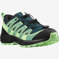 Salomon XA PRO V8 CSWP J Deep teal/Black/Patina green trail shoes