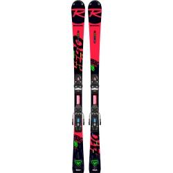 Pack de skis Rossignol HERO ATHLETE SL PRO (R21 PRO) + fixations NX 10 GW B73 Black / Icon