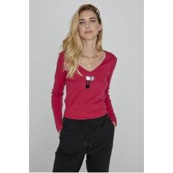 Diplodocus ML V-NECK Pomegranate sweater