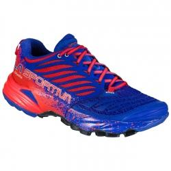 La Sportiva AKASHA W Royal/Cherry trail shoes