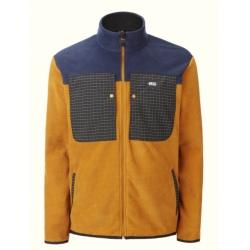 Picture ARTIM FLZP FLEECE Camel/Dark blue fleece jacket