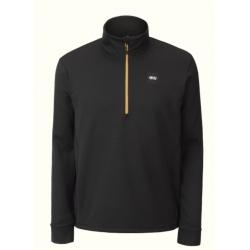Picture BAKE GRID 1/4 FLEECE Black Technical sweatshirt