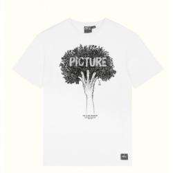 Tee-shirt Picture D&S TREE TEE M White