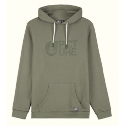Hoodie Picture BASEMENT FLOCK Dusty olive