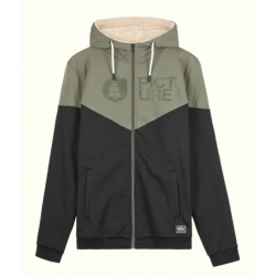Picture BASEMENT PLUSH ZIP HOOODIE M Dusty Olive