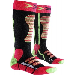 Chaussettes X-Socks SKI JUNIOR Coral/Vert