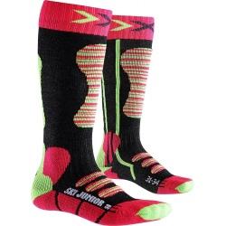 X-Socks SKI JUNIOR Coral/Green