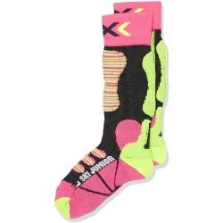 X-Socks SKI JUNIOR Fuschia/Yellow