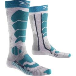 Chaussettes X-Socks SKI CONTR LADY2 Gris/Turquoise