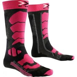 Chaussettes X-Socks SKI CONTR LADY2 Anthracite/Fuschia