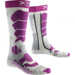 Chaussettes X-Socks SKI CONTR LADY2 Gray/Violet