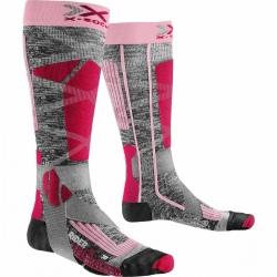 Chaussettes X-Socks SKI RIDER LADY 4.0 Gris/Rose