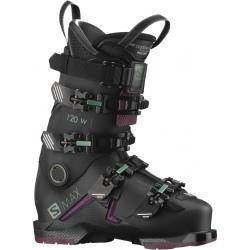 Chaussures de ski Salomon S/MAX 120 W GW Black / Burgendy / Shift Green/ Blue