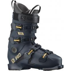 Chaussures de ski Salomon S/PRO 100 GW Petrol Blue / Golden Glow Metallic / Black