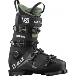 Chaussures de ski Salomon S/MAX 120 GW Black / Oil Green / Silver