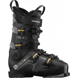 Chaussures de ski Salomon S/PRO HV 90 W Black / Belluga / Golden Glaw