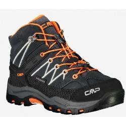 Chaussures de rando CMP KIDS RIGEL MID Anthracite-Flash Orange