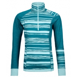 Ortovox 210 SUPERSOFT ZIP NECK W Pacific green