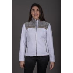 Aulp UMMAN White Fleece Jacket