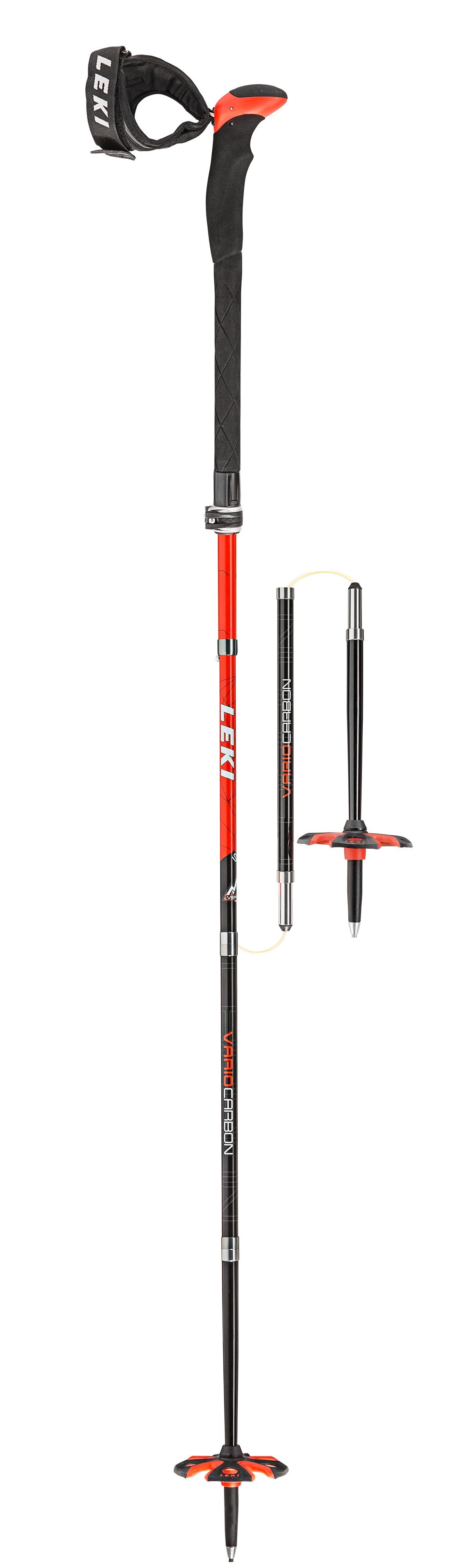 675193cdfa1 LEKI Leki TOURSTICK VARIO CARBON V 2019 hiver. Vous aimez autant les tours  en ski que les technologies   Alors pas d hésitation. Avec son bouton  poussoir