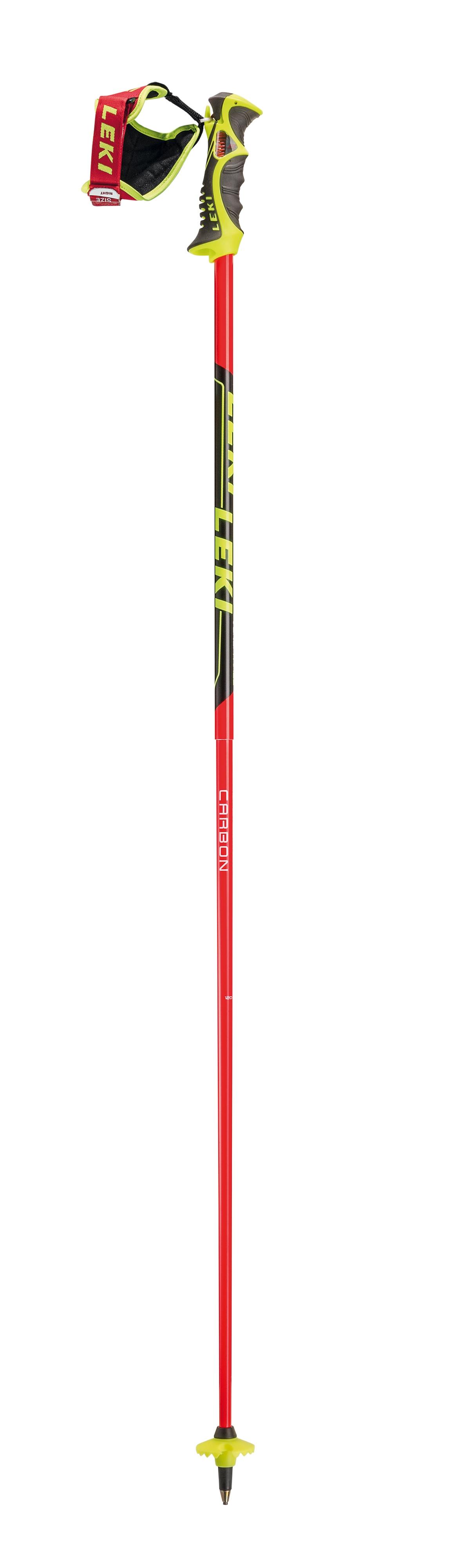 1c92bb14d39 Ce bâton de course de haute qualité en aluminium HTS 6.5 et carbone aramide  est équipé d une poignée slalom LEKI éprouvée. Quatre cavités pour les  doigts ...