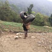 Bonne rentrée à tous les écoliers. Ne chargez pas trop le sac de classe et profitez de la chance d'aller à l'école. Ado porteur dans la basse vallée du Khumbu...