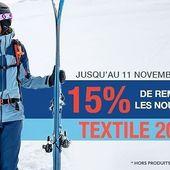 Profitez de 15% de réduction sur les nouveautés textile 2020. offre valable jusqu'au 11 novembre 2019 hors produits exclus. #specksports #promo #skiwear #vetementsdeski #alsace #ski #montagne