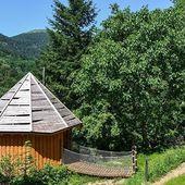 Les cabanes perchées du grand Ballon. Un joli coin pour un week-end dans les montagnes alsaciennes. #grandballon #cabanedanslesarbres #gite #specksports #alsace #vosges
